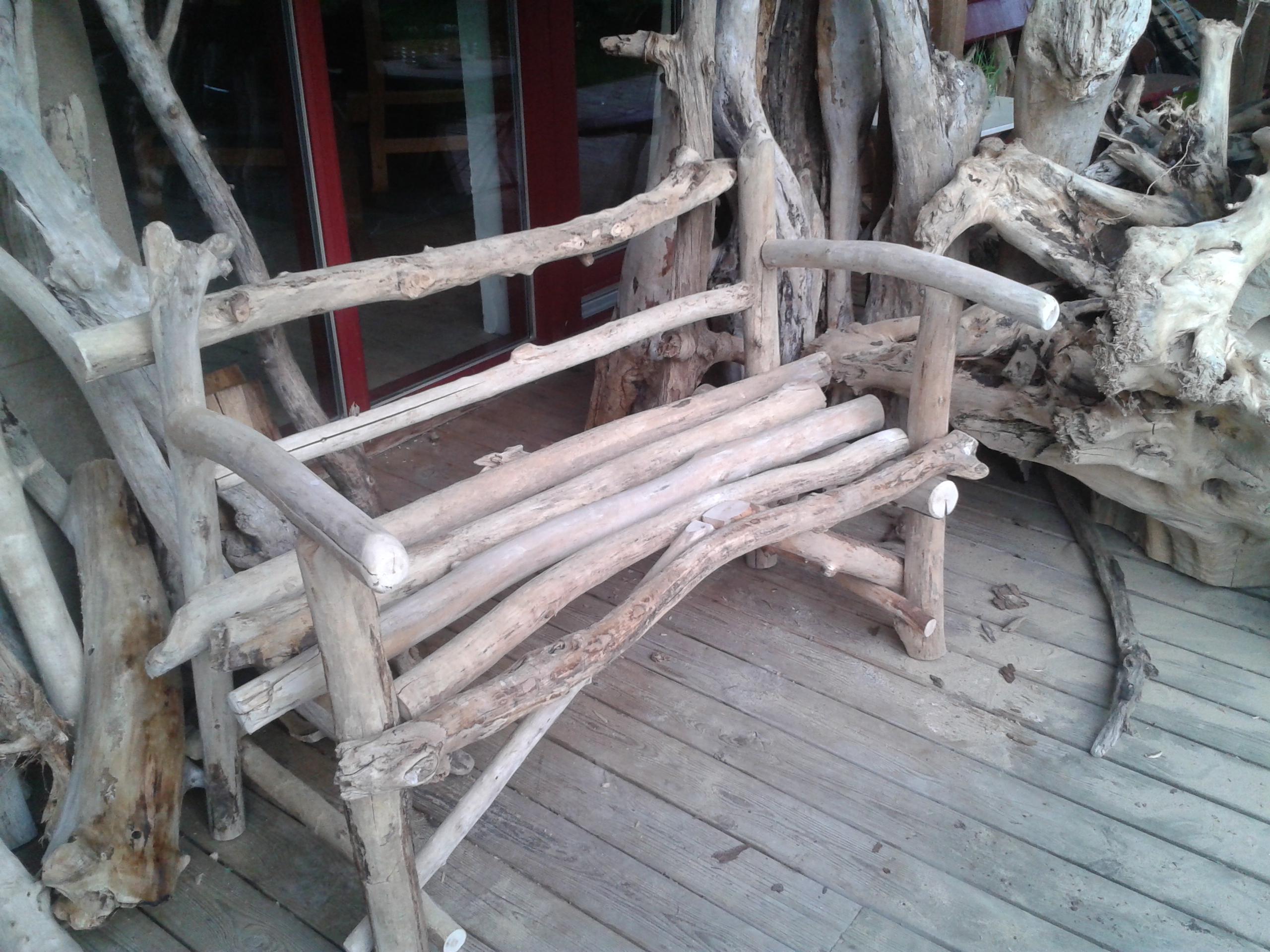 Autres cr ations bois flott s for Banc en bois flotte
